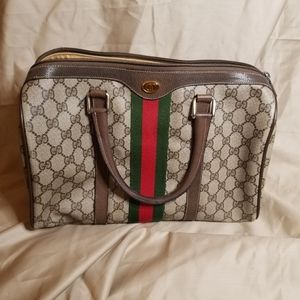 "Gucci ""Ophidia"" Vintage Monogram Boston Bag"